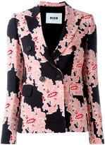 MSGM floral print blazer - women - Polyester/Viscose - 40