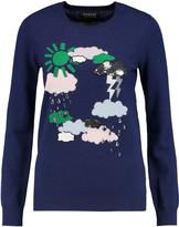 Markus Lupfer Emma embellished intarsia merino wool sweater