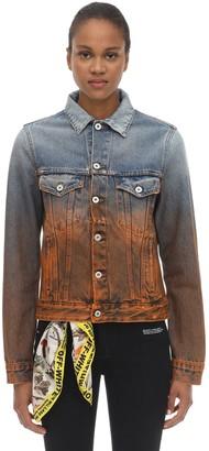Off-White Degrade Cotton Denim Jacket
