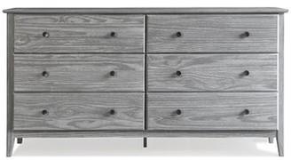 Grain Wood Furniture Greenport 6 Drawer Double Dresser Color: Brushed Gray