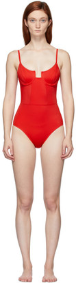 Solid and Striped Red The Veronica One-Piece Swimsuit
