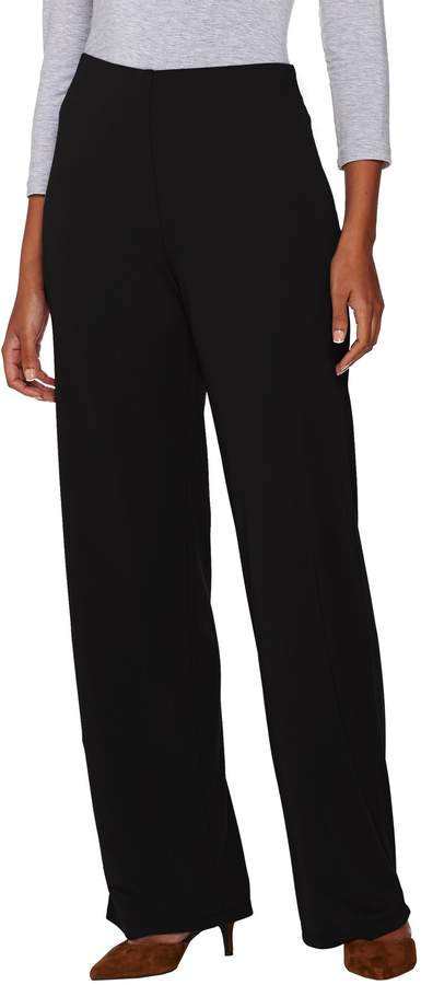 Halston H By H by Regular Jersey Knit Wide Leg Pants