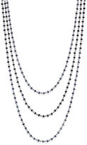 INC International Concepts Silver-tone Jet Stone Triple Layer Necklace, Only at Macy's