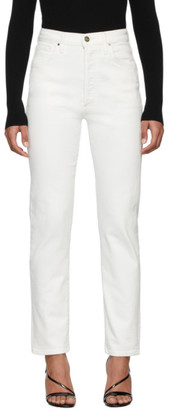 Gold Sign White The Benefit Jeans