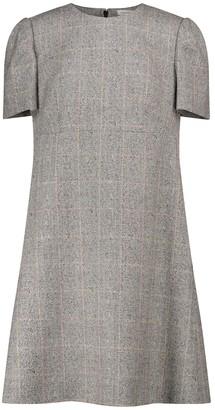 Alexander McQueen Checked stretch-wool minidress