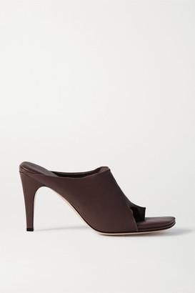 Bottega Veneta Leather Mules - Dark brown