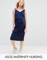 ASOS Maternity - Nursing ASOS Maternity NURSING Double Layer Cami Dress