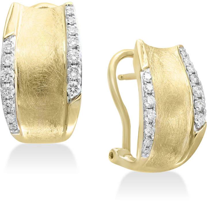 Effy D'oro by Diamond Hoop Earrings (3/8 ct. t.w.) in 14k Gold