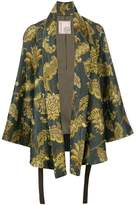 Antonio Marras leaves print kimono jacket