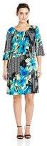 Robbie Bee Women's Plus Size 1 Pc Elbow Sleeve Dress