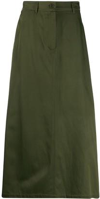 Aspesi High Rise Midi Skirt