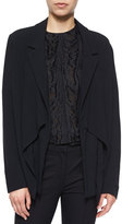 Jason Wu Draped Open-Front Crepe Cardigan