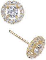 Macy's Flower Cluster Cubic Zirconia Stud Earrings in 10K Gold