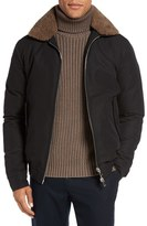 Eleventy Bomber Jacket with Genuine Shearling Collar