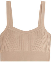 Jil Sander Ribbed-knit Bra Top - Beige