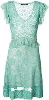 Roberto Cavalli V-neck semi-sheer dress - women - Silk/Spandex/Elastane - 46