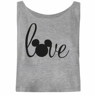 Disney Women's Love Mickey Vest Top T-Shirt