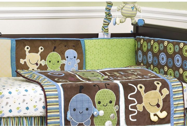 CoCalo baby peek a boo monsters 4-pc. reversible crib bumper