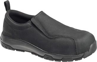 Nautilus 1657 Men's Slip-On Leather Slip Resistant ESD Work Shoe - Carbon Safety Toe