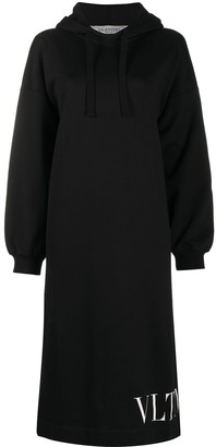 Valentino VLTN-print hoodie dress