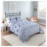 Vue Blue & White Medallion Stella Reversible Quilt Set