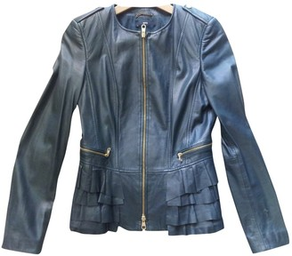 BOSS Green Leather Leather Jacket for Women