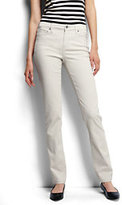 Lands' End Women's Petite Mid Rise Straight Jeans-Flax