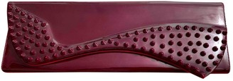 Christian Louboutin Burgundy Patent leather Clutch bags
