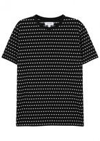 Soulland Fernell Black Spot-jacquard T-shirt