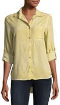 Velvet Heart Elisa Tab-Sleeve Chambray Shirt