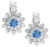 Carolee Something Blue Floral Cluster Clip-On Earrings