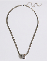 M&S Collection Baguette Striped Necklace MADE WITH SWAROVSKI® ELEMENTS
