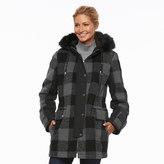 Apt. 9 Women's Hooded Wool Blend Anorak Jacket