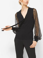 Michael Kors Merino Wool And Lace Blouse