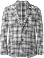 Lardini checked blazer - men - Cotton/Acrylic/Polyamide/Wool - 48