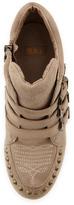 Ash Bobo Studded Wedge Sneaker, Topo