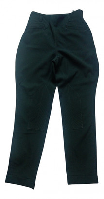Hermes Green Wool Trousers