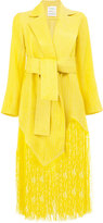 Maison Rabih Kayrouz frayed coat - women - Silk/Acetate/Cupro/Viscose - 38
