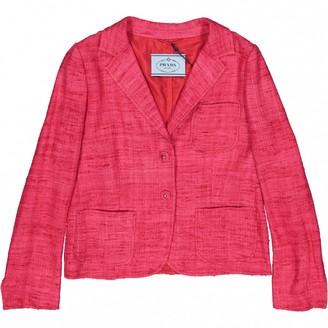 Prada Pink Silk Jackets