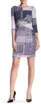 Donna Morgan 3/4 Sleeve Twist Front Jersey Dress
