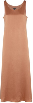 Eileen Fisher Dusky Rose Silk Maxi Dress