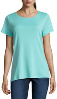 ST. JOHN'S BAY St. John's Bay Short Sleeve Crew Neck T-Shirt-Womens