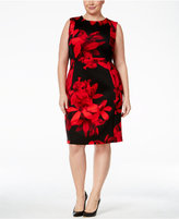 Calvin Klein Plus Size Floral Scuba Sheath Dress