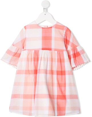 Tartine et Chocolat Gathered Check Dress