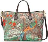Gucci GG Tian Supreme tote bag - women - Leather/Canvas/Microfibre - One Size