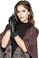 GUESS Leather Fringe Gloves