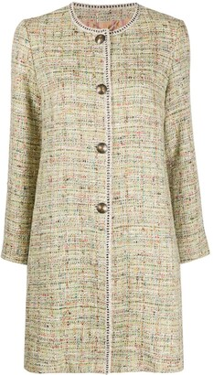 Etro Tweed Longline Coat