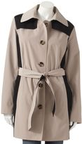 London Fog Towne by colorblock trench coat