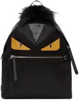 Fendi Black Medium 'Bag Bugs' Backpack