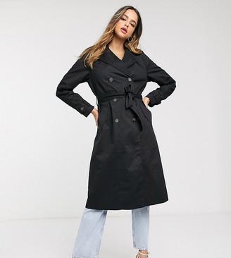 Vero Moda Tall tailored trench coat in black